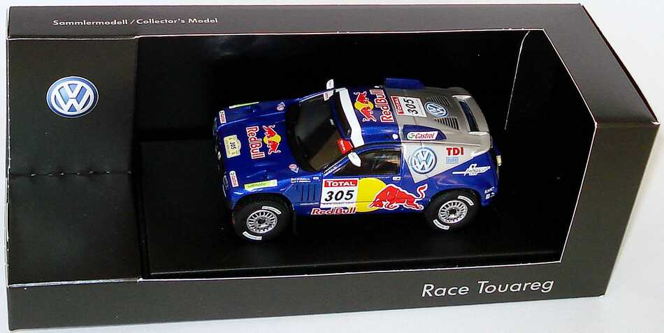 Foto 1:43 VW Race Touareg 2 Rallye Dakar 2009 Red Bull Nr.305, de Villiers / von Zitzewitz  Werbemodell Norev 7L609930098P