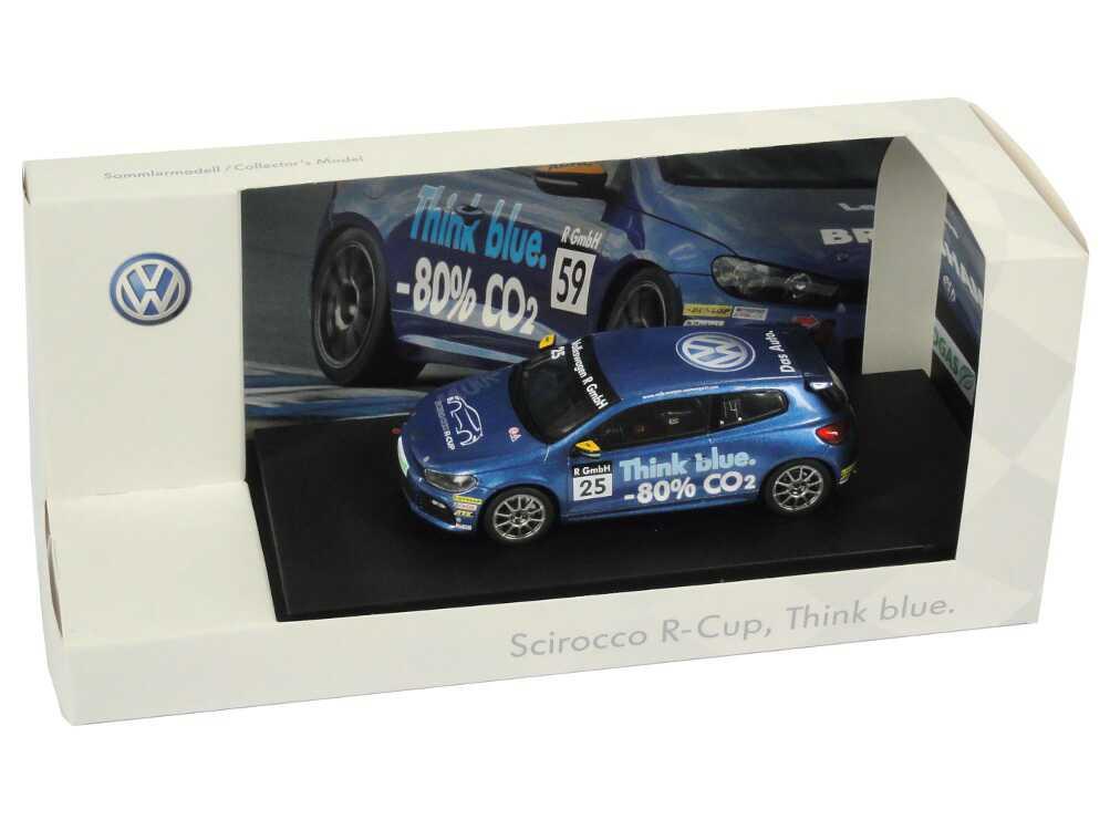 Foto 1:43 VW Scirocco III R-Cup 2010 Think blue. Nr.25, Carlos Sainz Werbemodell Spark 1K1099300CFQC