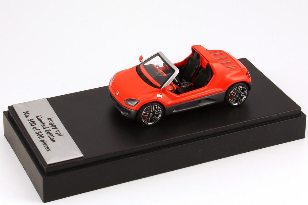 Foto 1:43 VW buggy up! hot-orange-met. Concept Car IAA 2011 - Werbemodell - No 500 of 500 - Looksmart 1S1099300HVSX