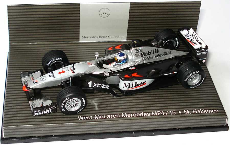 west mclaren mercedes mp4 15 formel 1 2000 mika nr 1 mika. Black Bedroom Furniture Sets. Home Design Ideas