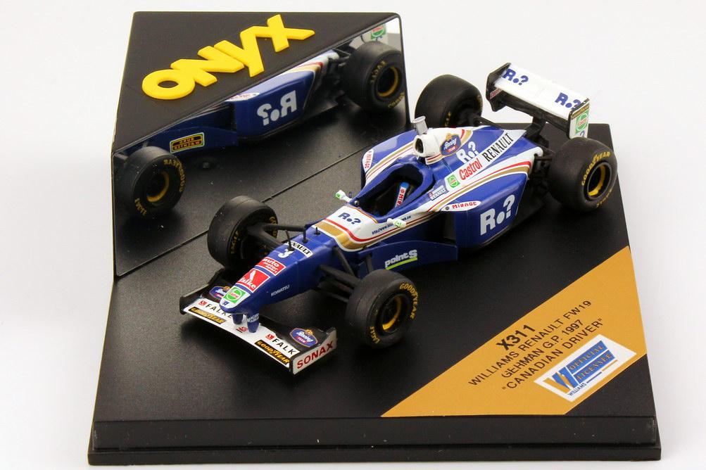 Foto 1:43 Williams Renault FW19 Formel 1 1997 Castrol, Renault Nr.3, Jacques Villeneuve (German G.P.) Onyx X311