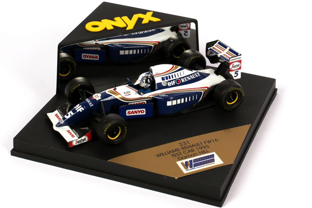 Foto 1:43 Williams Renault FW 16 Formel 1 1995 elf, Renault Nr.5, Damon Hill - Test Car Onyx 231