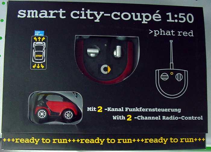 Foto 1:50 RC-Modell MCC Smart City-Coupé phat-red Werbemodell 0016949V001C36Q00