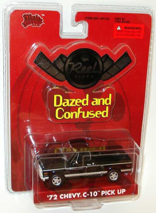 Foto 1:64 Chevrolet C-10 Pickup (1972) schwarz (Reel Rides, Movie: Dazed and Confused) Malibu International 09102