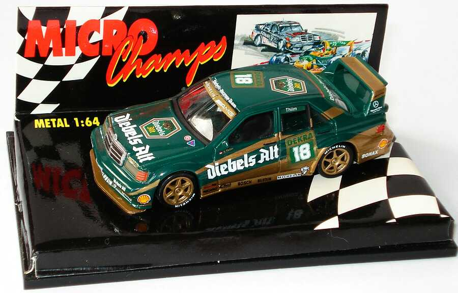 Foto 1:64 Mercedes-Benz 190E 2.5-16 Evolution II DTM 1992 Zakspeed, Diebels Alt Nr.18, Thiim Paul´s Model Art MCH651105