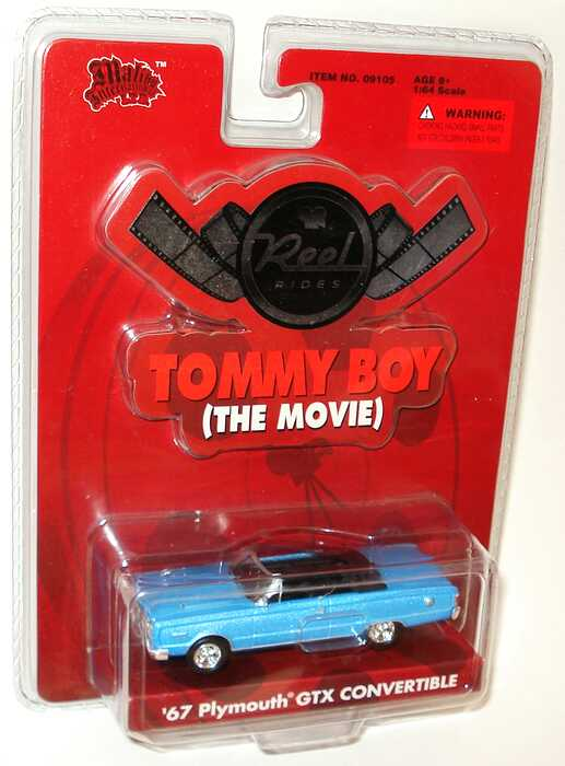 Foto 1:64 Plymouth GTX Convertible (1967) hellblau-met. (Reel Rides, Movie: Tommy Boy) Malibu International 09105