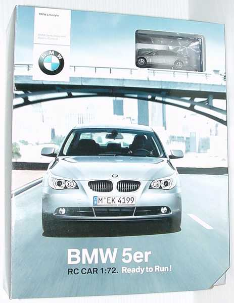 Foto 1:72 RC-Modell BMW 5er (E60) silbergrau-met. Werbemodell Realtoy 80450309574