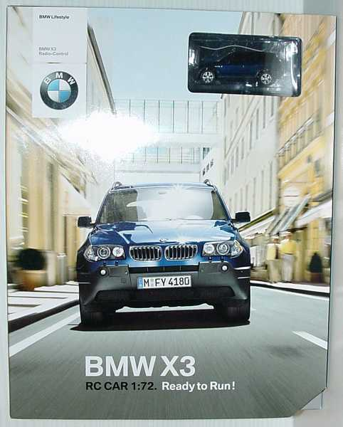 Foto 1:72 RC-Modell BMW X3 E83 mysticblau-met. - Werbemodell - Realtoy 80450309576