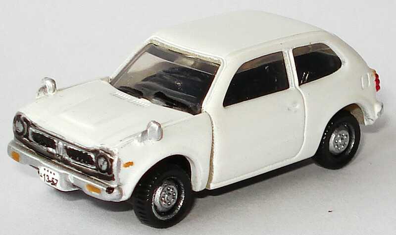 Foto 1:84 Honda Civic 1200 (1972) weiß Furuta H04