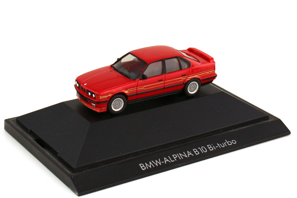 Foto 1:87 Alpina B10 BiTurbo rot - Basis BMW 5er E34 - Private Collection - herpa 20065