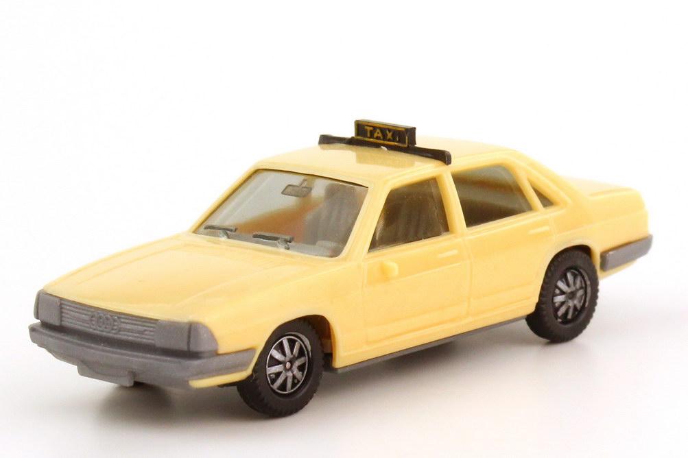 Foto 1:87 Audi 100 GL 5E C2 Taxi beige Boden grau IA grau - herpa