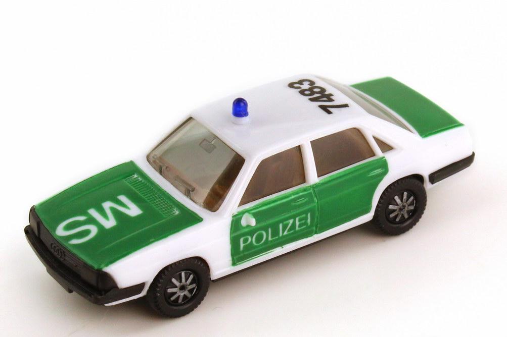 Foto 1:87 Audi 100 GL 5E Polizei 7483 MS IA braun - herpa 4044