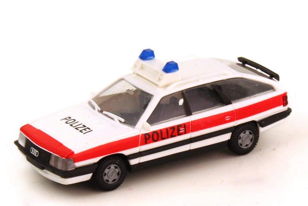 Foto 1:87 Audi 200 Avant Typ 44 Polizei Schweiz weiß rot - Rietze 00250