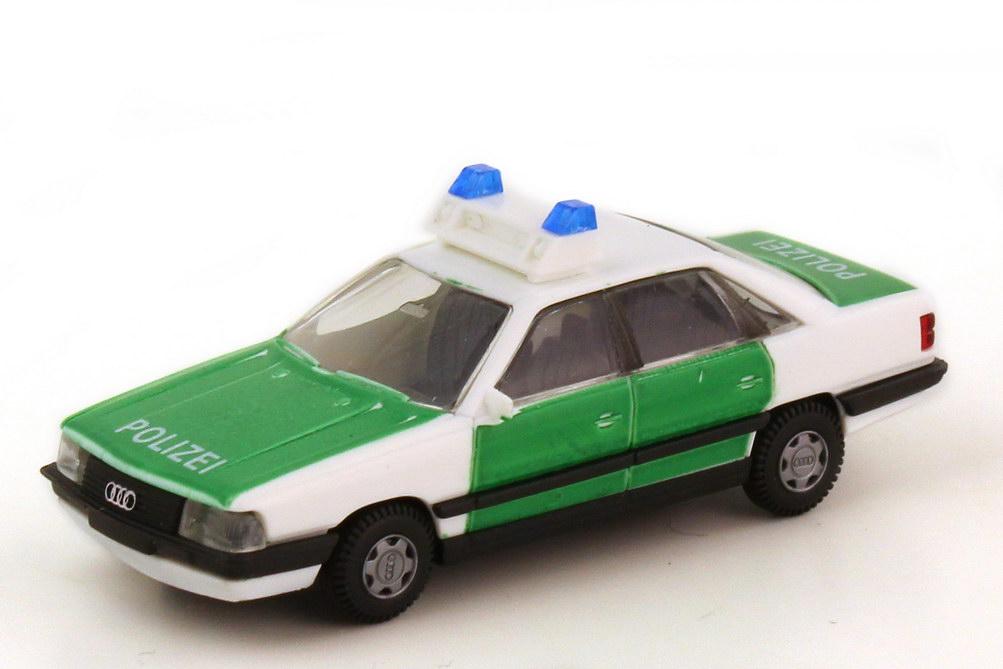 Foto 1:87 Audi 200 Typ 44 Polizei weiß grün - Rietze 50235
