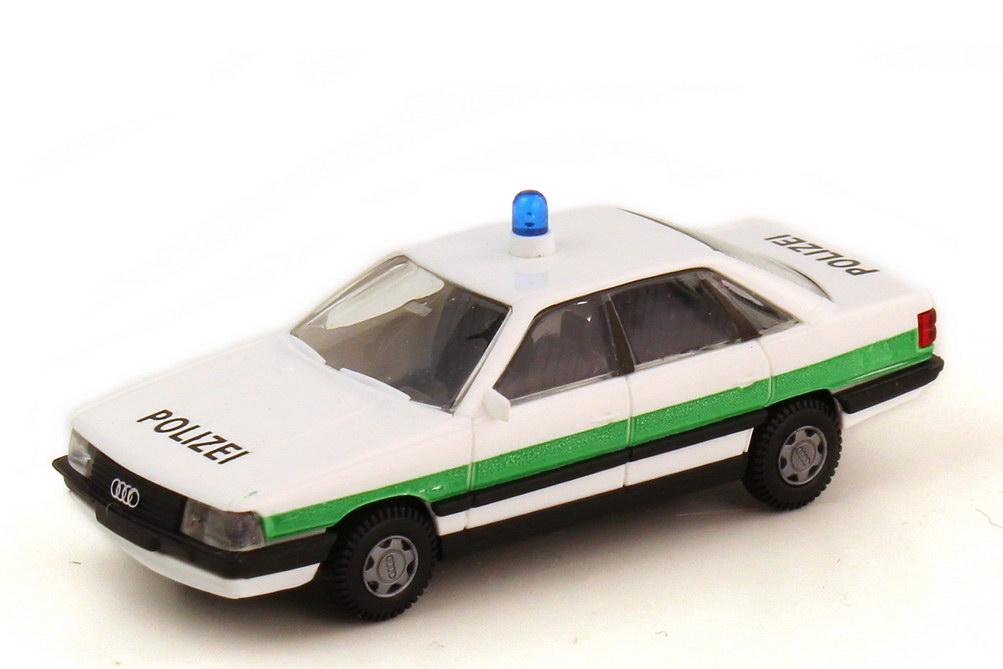 Foto 1:87 Audi 200 Typ 44 Polizei bayrisch weiß grün - Rietze 50232