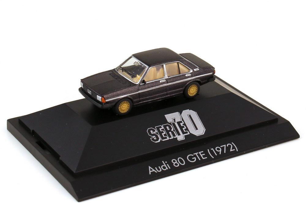 Foto 1:87 Audi 80 GTE B1 schwarzbraun-met. - Serie 70 - herpa 100755