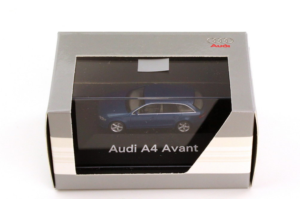 Foto 1:87 Audi A4 Avant B8 arubablau-met. - Werbemodell - herpa 5010804222