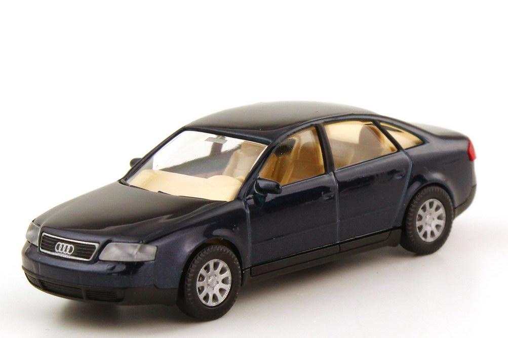 Foto 1:87 Audi A6 C5 dunkelblau-met. - Werbemodell - Wiking 132255