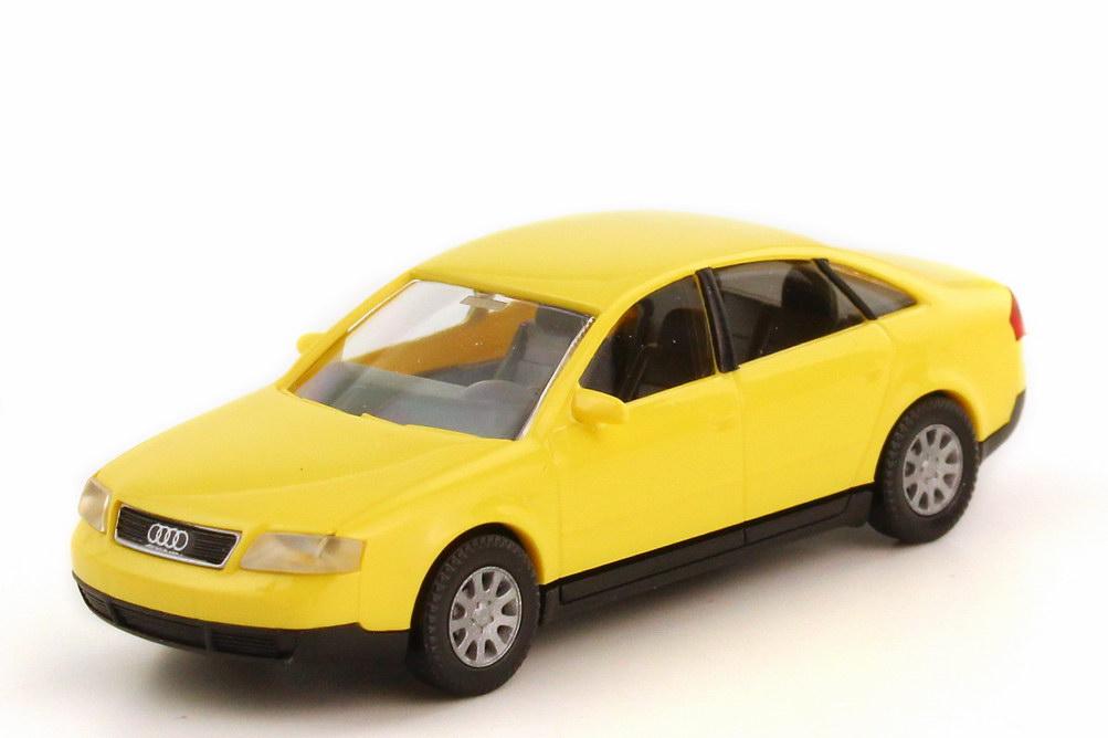 Foto 1:87 Audi A6 C5 gelb - Werbemodell - Wiking 132255