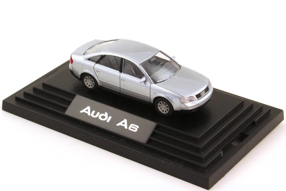 Foto 1:87 Audi A6 C5 silber-met. - Werbemodell - Wiking 132255