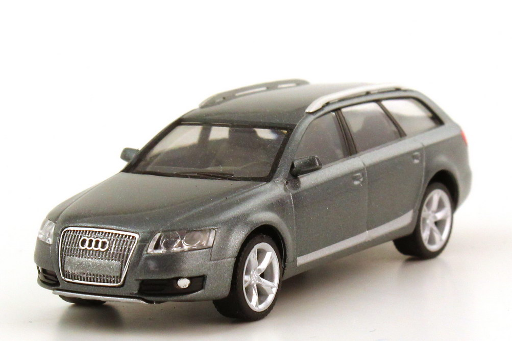 Foto 1:87 Audi A6 allroad quattro C6 condorgrau-met. - Werbemodell - herpa 5010506622