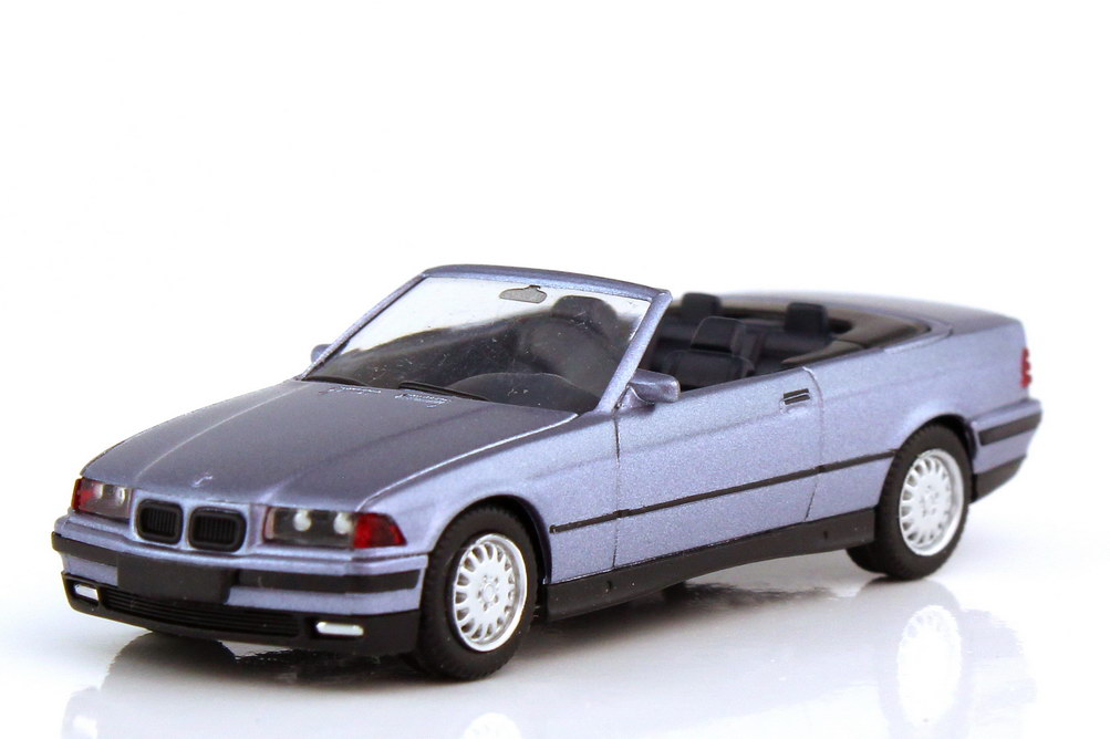 Foto 1:87 BMW 3er 325i Cabrio E36 samoablau-met. - herpa 031387
