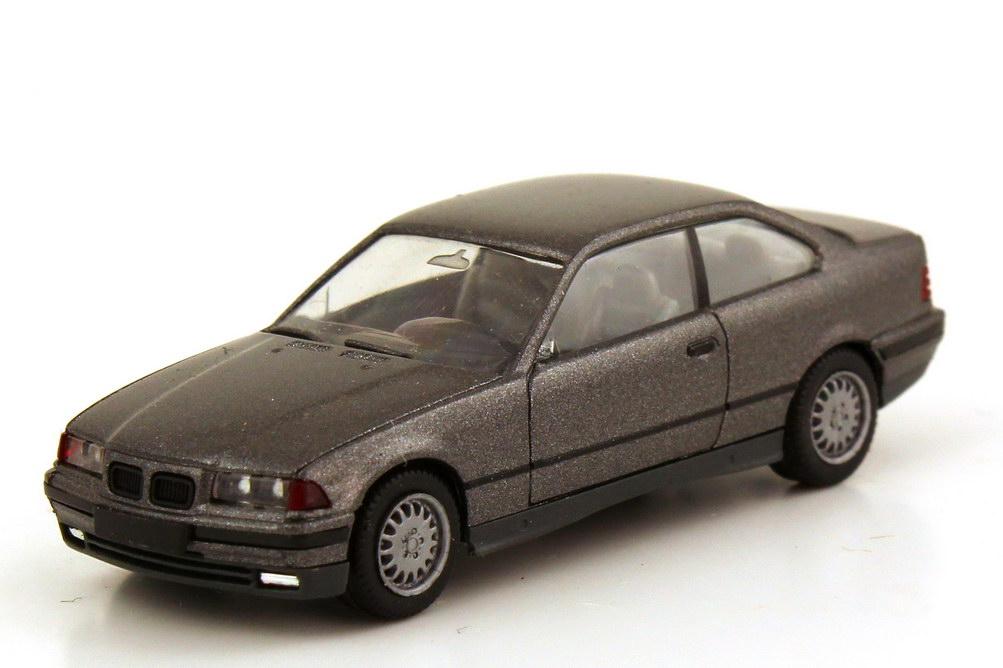 Foto 1:87 BMW 3er 325i Coupé E36 asphaltgrau-met. - herpa 030977