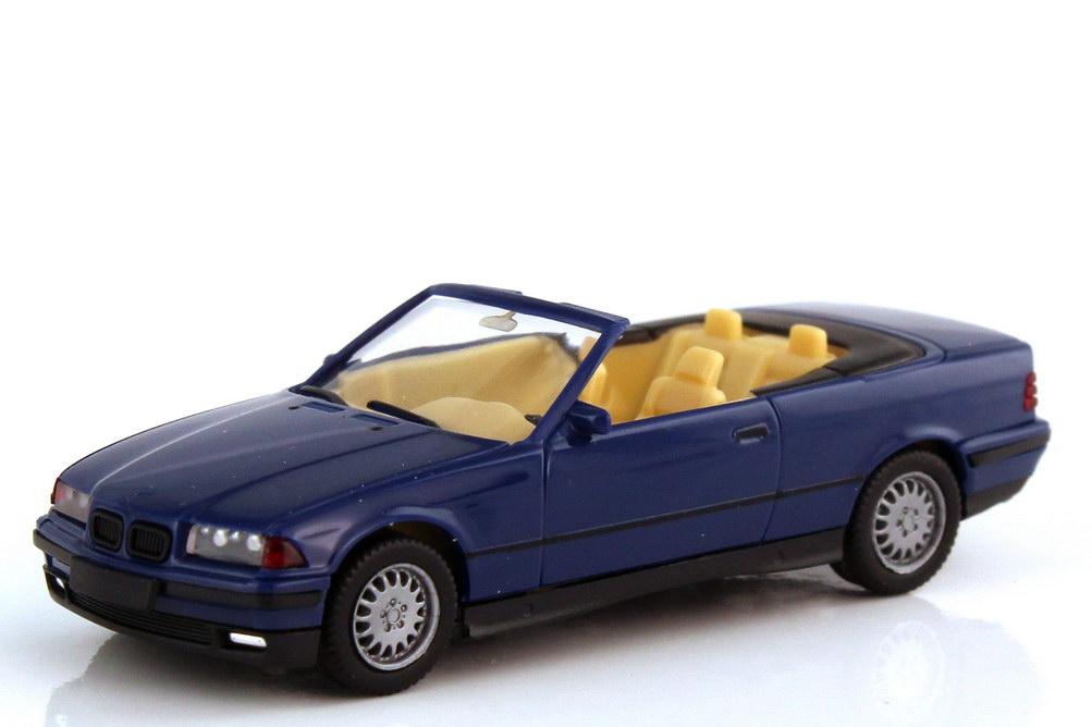 Foto 1:87 BMW 3er 325i E36 Cabrio atlantisblau - herpa 021388