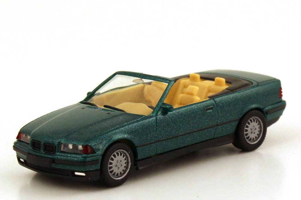 Foto 1:87 BMW 3er 325i E36 Cabrio lagunengrün-met. - herpa 031387