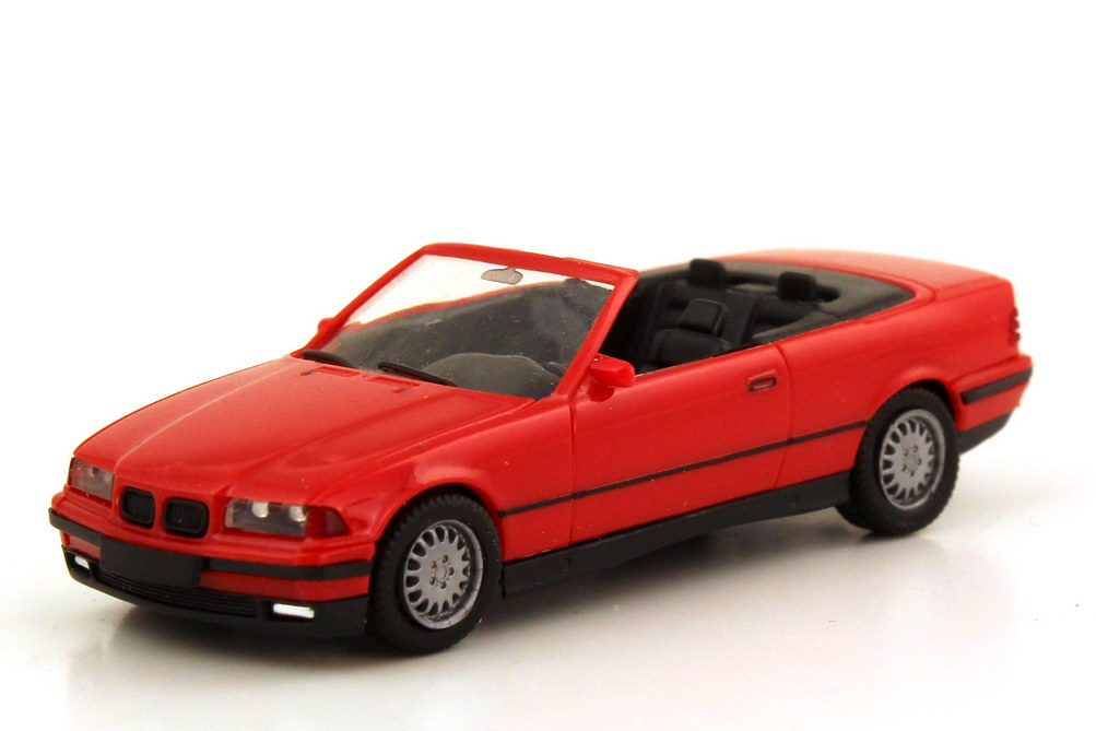 Foto 1:87 BMW 3er 325i E36 Cabrio rot - herpa 021388
