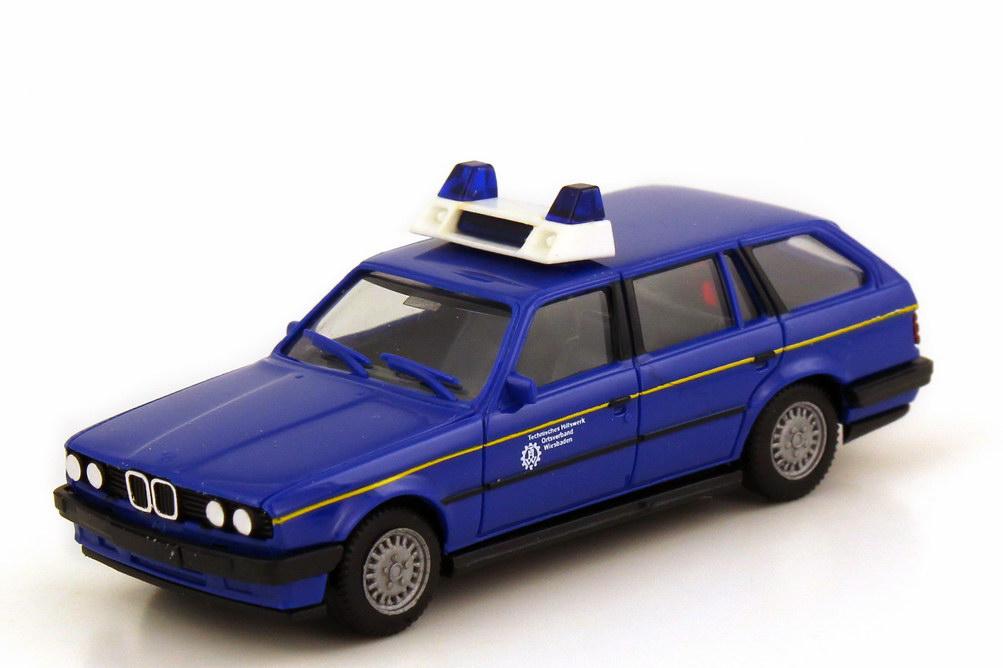 Foto 1:87 BMW 3er 325i touring E30 THW Wiesbaden - herpa 043205
