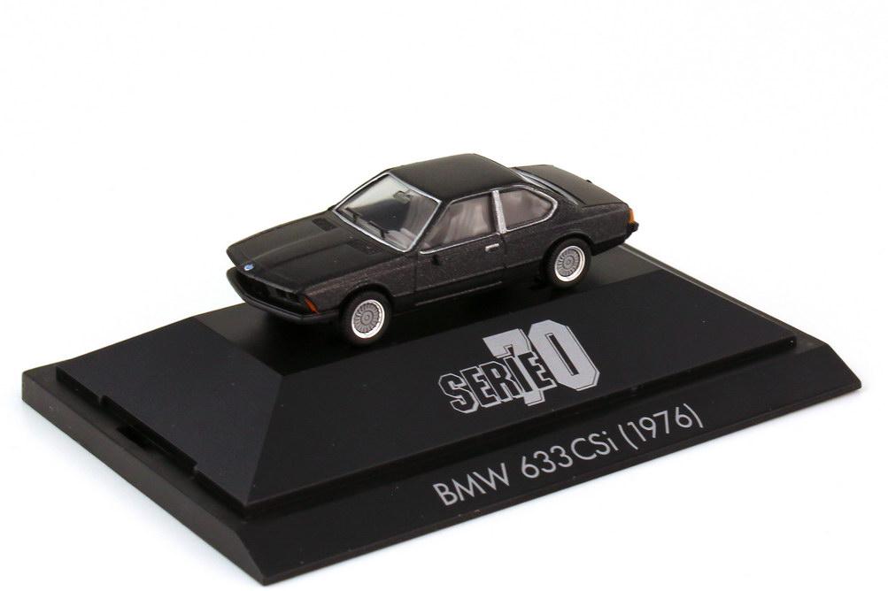 Foto 1:87 BMW 6er 633 CSi E24 schwarz-met. - Serie 70 - herpa 100786