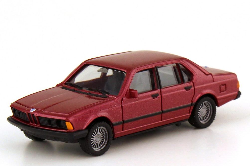 Foto 1:87 BMW 7er 728i E23 rot-met. - Serie 70 - herpa 100762