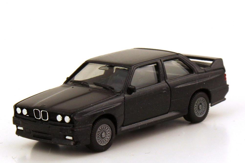 Foto 1:87 BMW M3 E30 schwarz-met. - herpa 3061