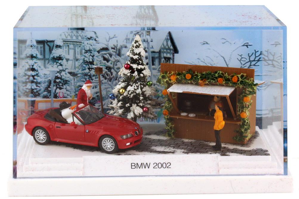 Foto 1:87 BMW Z3 facelift rot BMW Diorama Weihnachten 2002 - Werbemodell - herpa 80410152368