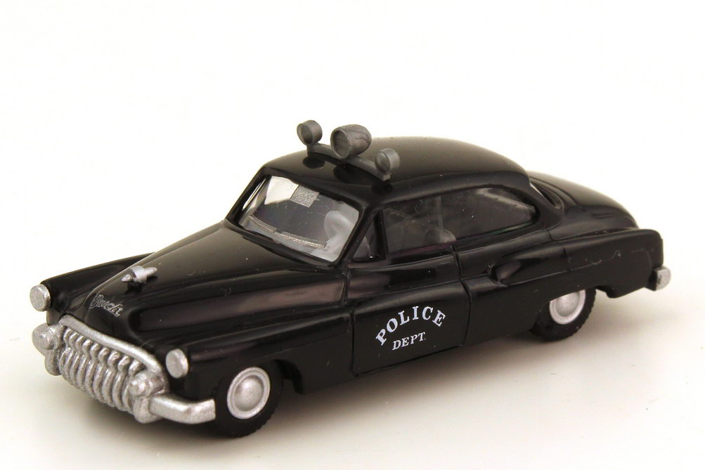 Foto 1:87 Buick Super 1950 Police Dept. Polizei USA schwarz mit Dachleuchte - Praliné 84710
