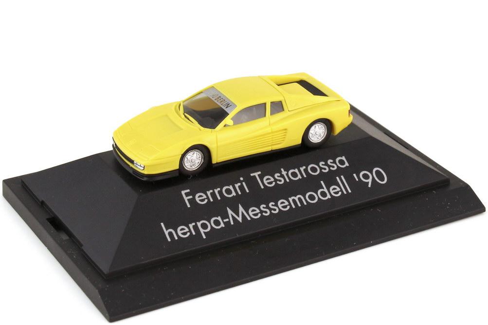 Foto 1:87 Ferrari Testarossa hellgelb Messemodell 1990 AAA Berlin - herpa