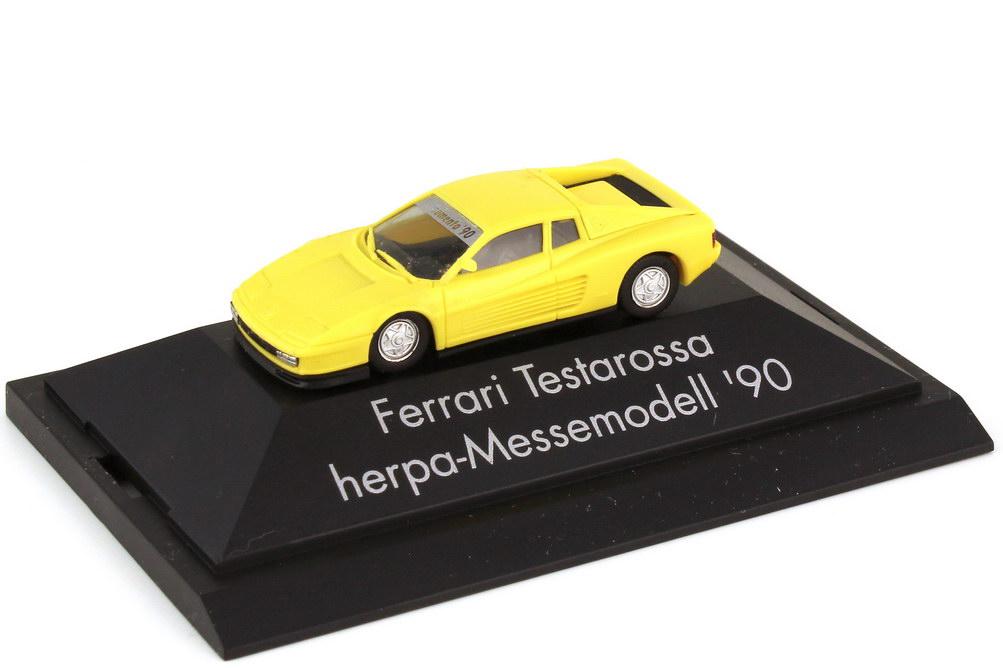 Foto 1:87 Ferrari Testarossa hellgelb - Messemodell 1990 Consumenta - herpa