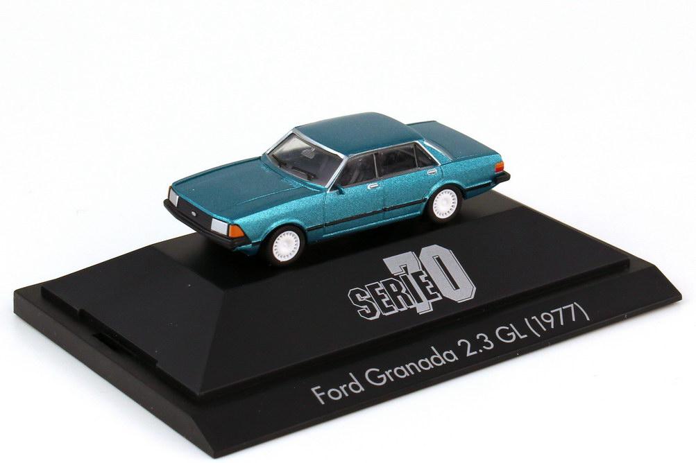 Foto 1:87 Ford Granada 2.3 GL türkis-met. - Serie 70 - herpa 100731