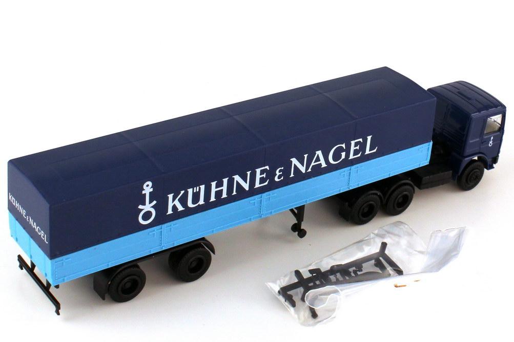 Foto 1:87 MAN F8 Pritsche-Plane-Szg Kühne & Nagel - herpa 818273
