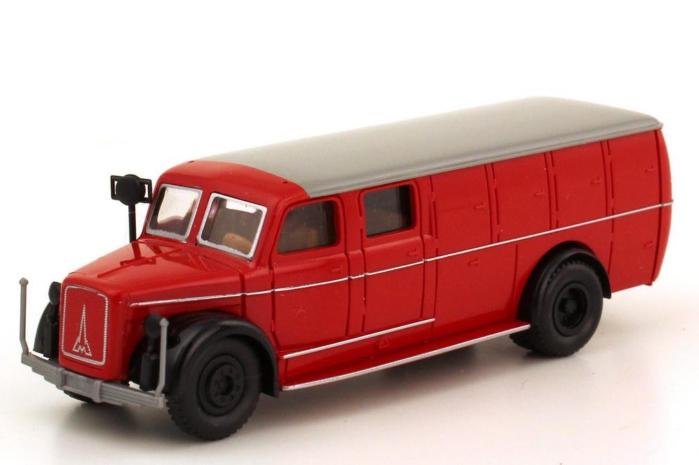 Foto 1:87 Magirus S 3500 TLF 10 50 Feuerwehr rot schwarz - Brekina 4120