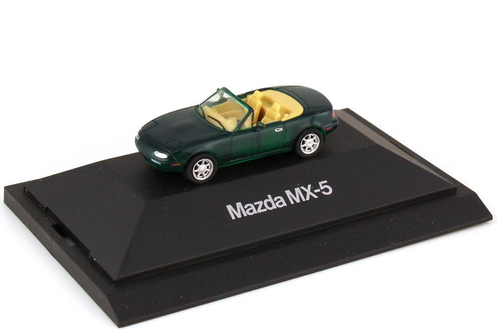 Foto 1:87 Mazda MX-5 Typ NA 1989 racing-green - Werbemodell - herpa