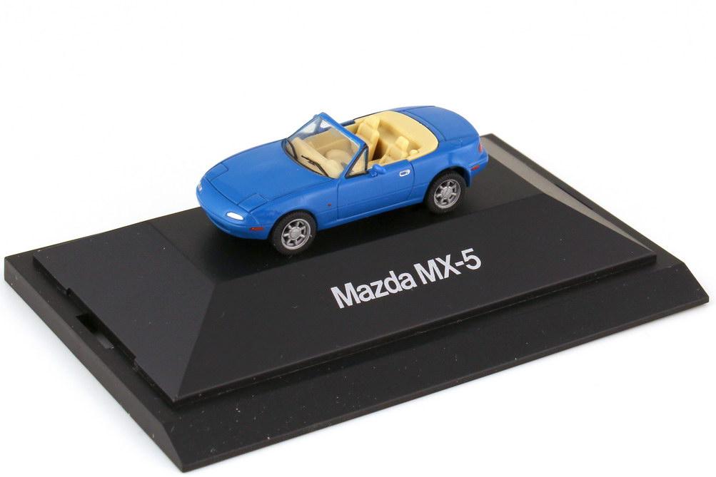 Foto 1:87 Mazda MX-5 Typ NA 1989 marineblau - Werbemodell - herpa