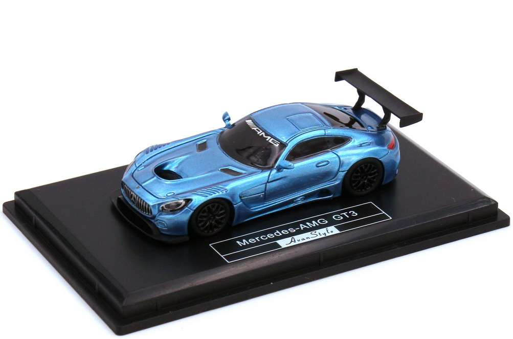 Foto 1:87 Mercedes-AMG GT3 C190 blau-met. - Fronti-Art AvanStyle FHO-18