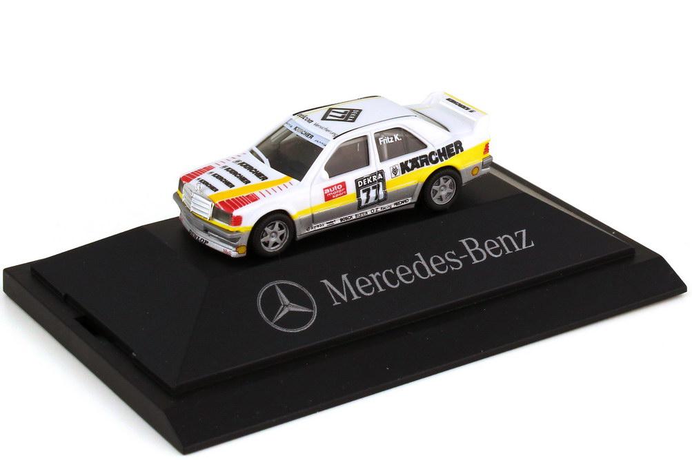 Foto 1:87 Mercedes-Benz 190E 2.5-16 Evo I DTM 1990 AMG Kärcher Nr.77 Fritz Kreutzpointner - Werbemodell - herpa