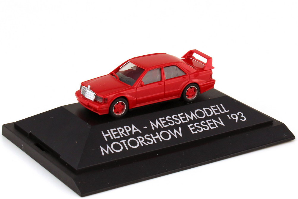 Foto 1:87 Mercedes-Benz 190E 2.5-16 Evolution II rot - Motorshow Essen 1993 - herpa