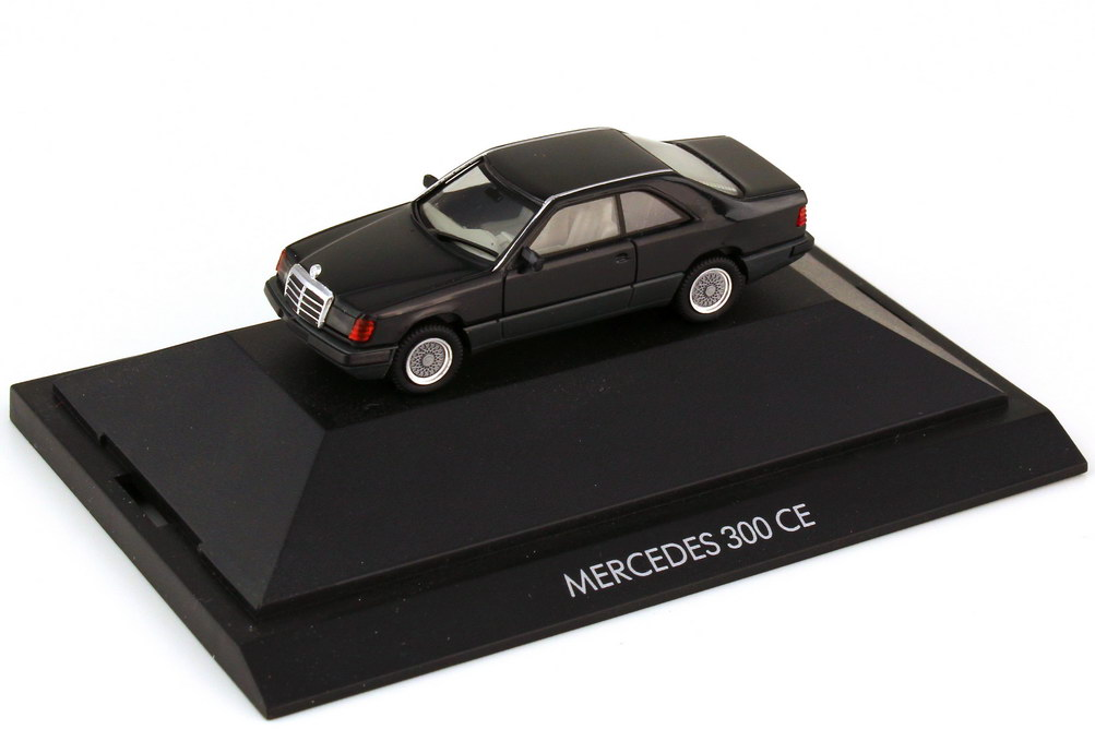 Foto 1:87 Mercedes-Benz 300CE C124 schwarz - herpa Private Collection 20064
