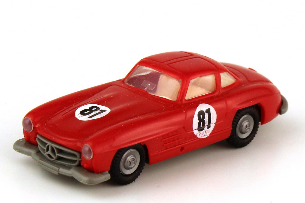 Foto 1:87 Mercedes-Benz 300SL Gullwing 1954 W198 rot Nr.81 - Praliné
