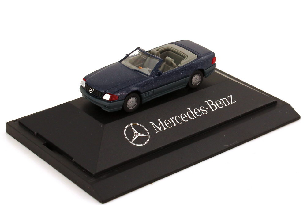 Foto 1:87 Mercedes-Benz 500SL R129 nautikblau-met. - Werbemodell - herpa