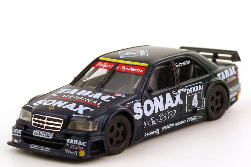 Foto 1:87 Mercedes-Benz C 180 DTM 1994 AMG, Tabac/Sonax Nr. 4, Bernd Schneider(ohne PC-Box) herpa 036184